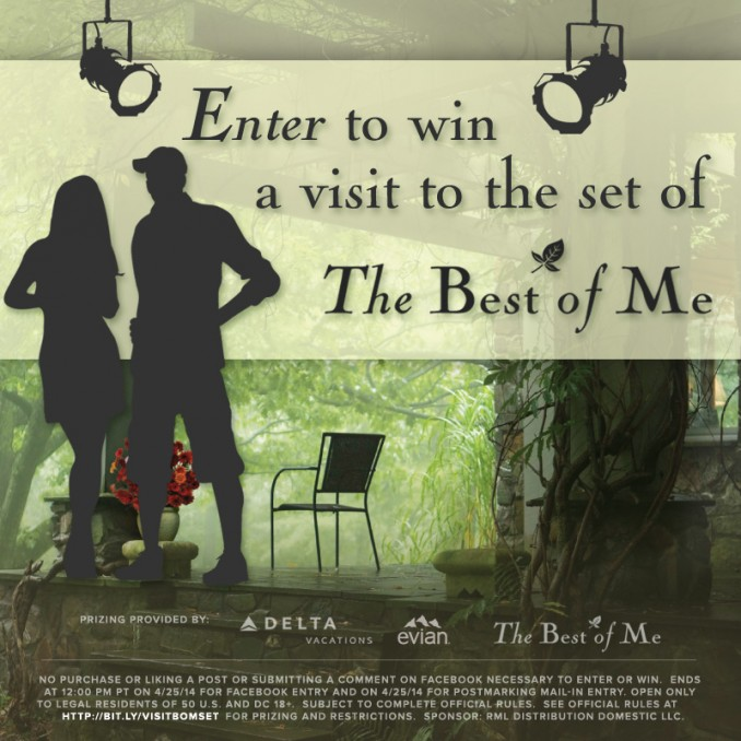 Want to visit The Best of Me's movie set?