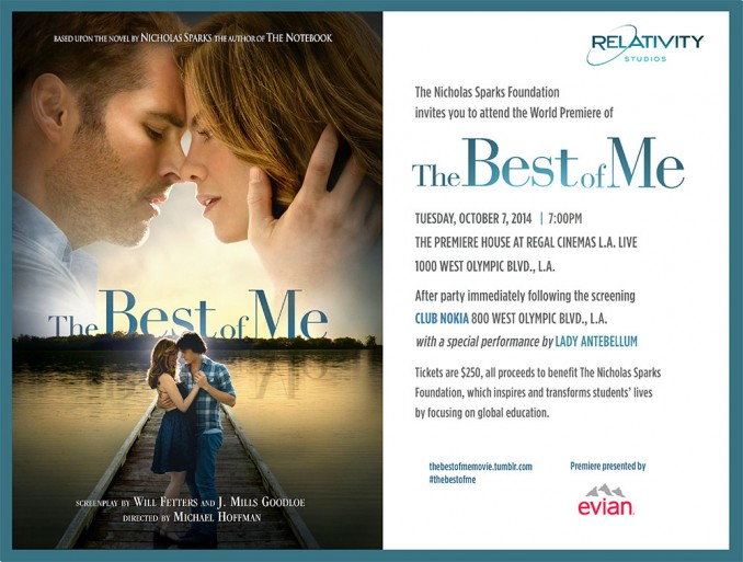 nicholas sparks want to attend the hollywood premiere of the best of me